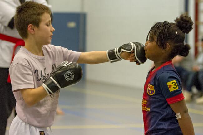 Wing Chun stoot Kinderen